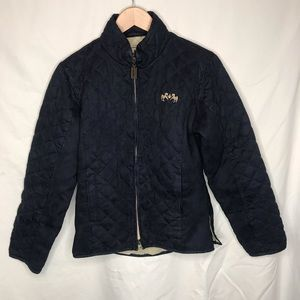 Equine couture spinnaker micro suede jacket